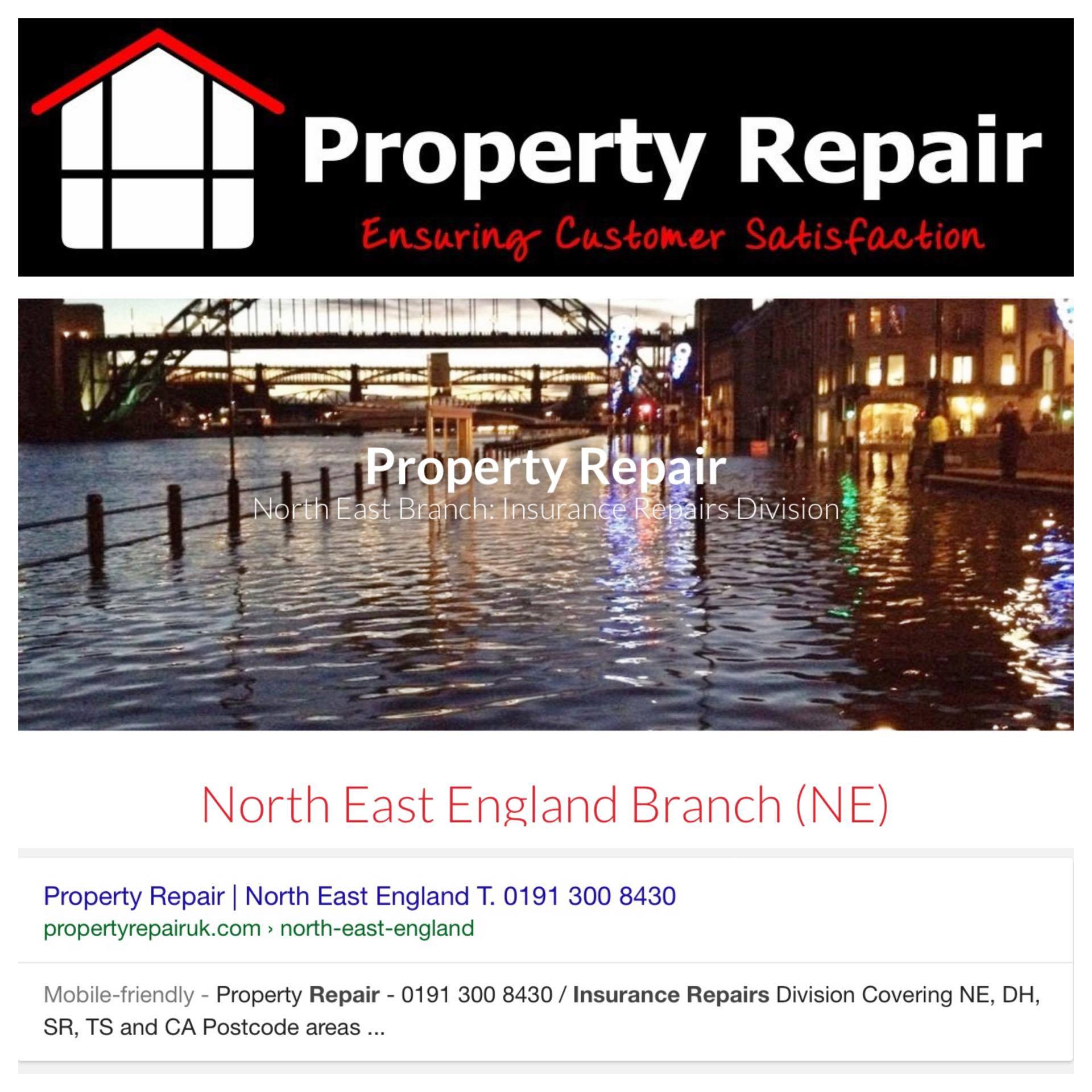 Typical service you can expect. Property Repair   North East England T  0191 300 8430