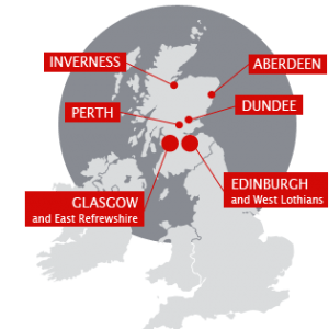 Insurance Repairs Division: Offices in Edinburgh, Dundee, Inverness, Aberdeen, Perth and Glasgow