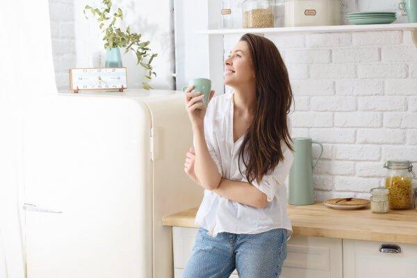 Women enjoying new kitchen